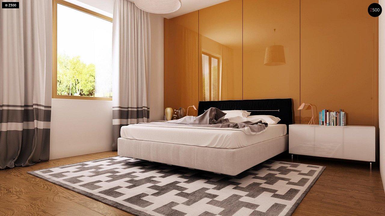 Функциональный одноэтажный дом с современными элементами отделки фасадов. - фото 11