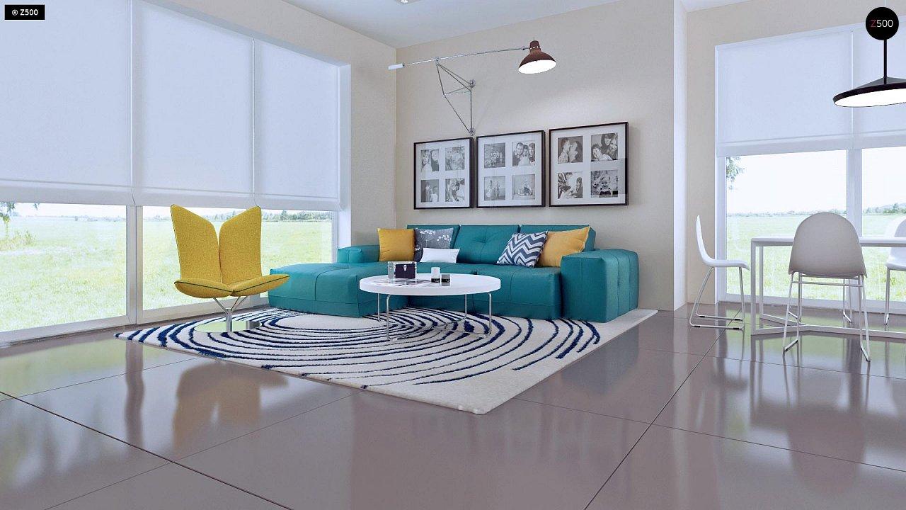 Проект практичного дома с большим хозяйственным помещением, с кабинетом на первом этаже. 4