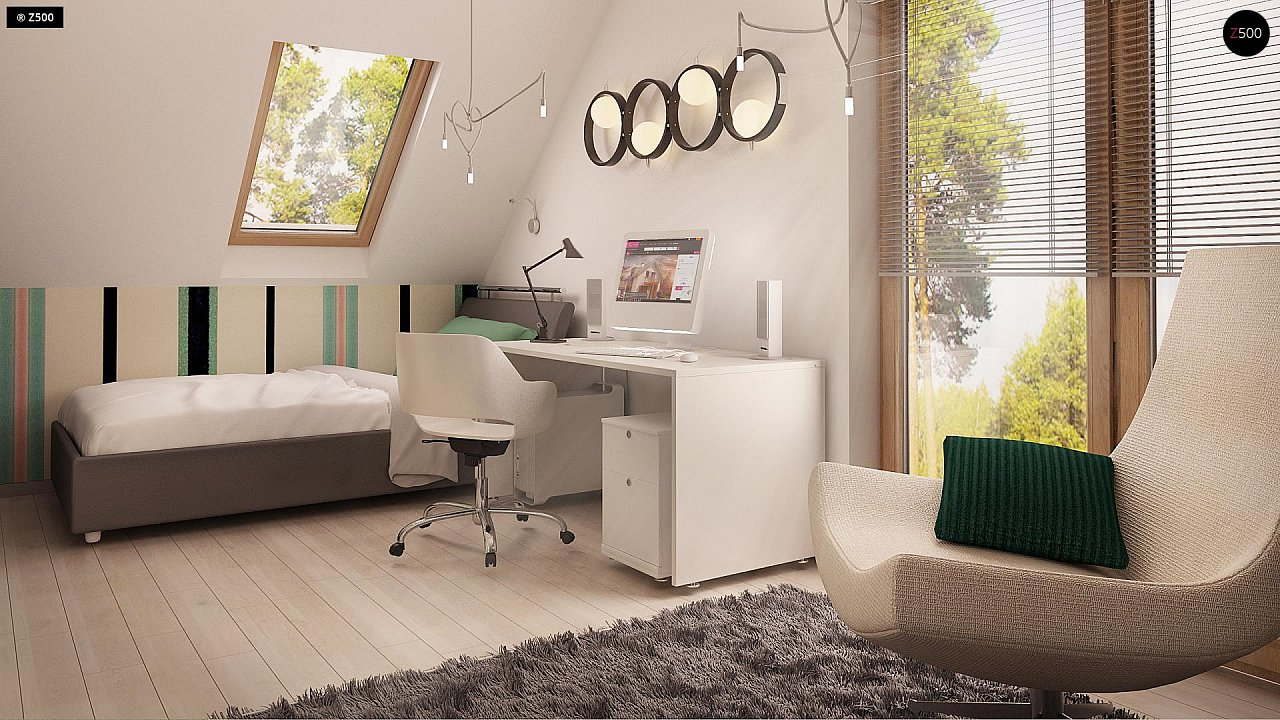 Дом традиционной формы с современными элементами в архитектуре. Уютный и функциональный интерьер. - фото 11