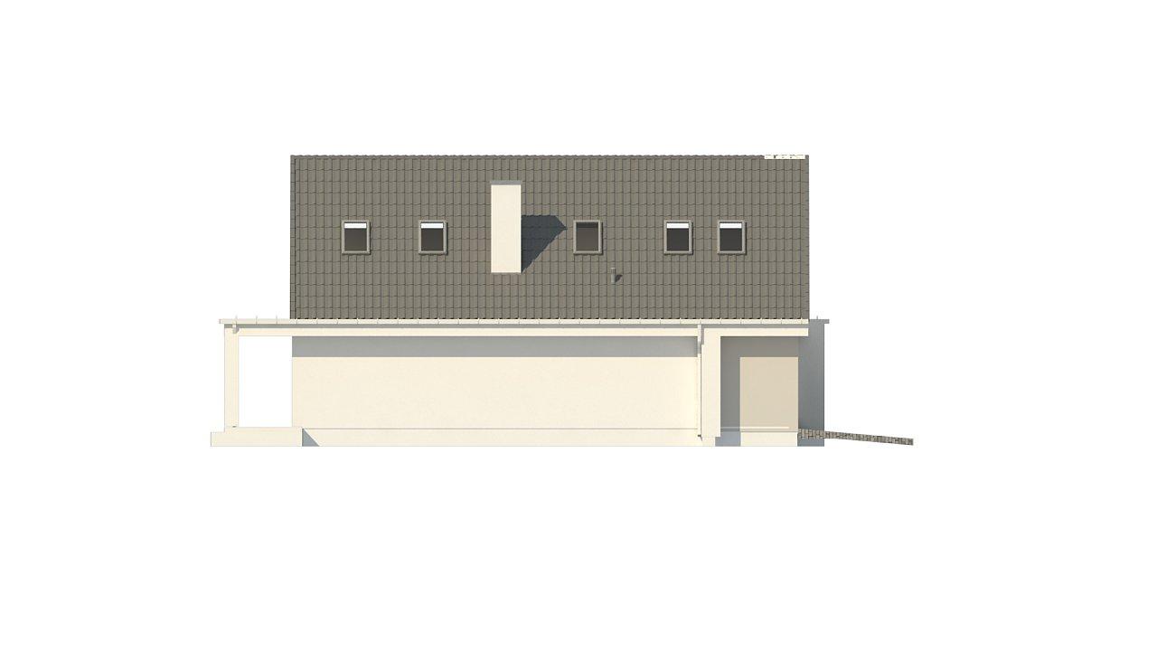 Проект классического мансардного дома с монохромным дизайном экстерьера 9