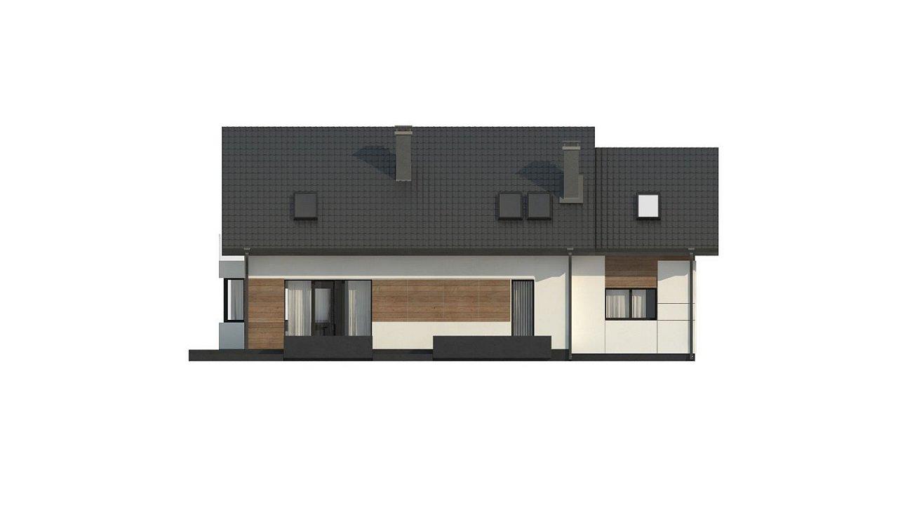 Красивый дом в традиционном стиле архитектуры, с комнатой на пером этаже и гаражом. - фото 8