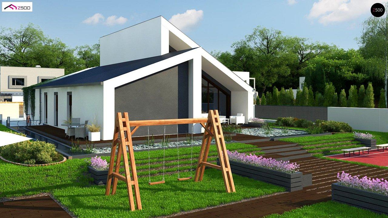 Современный дом с просторной гостиной и большим остеклением - фото 5