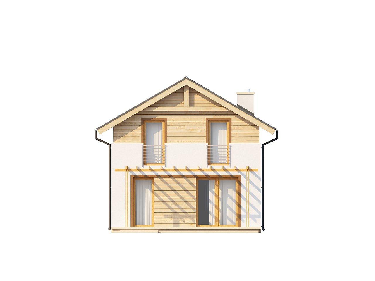 Простой и удобный дом для узкого участка с высокой аттиковой стеной. - фото 13