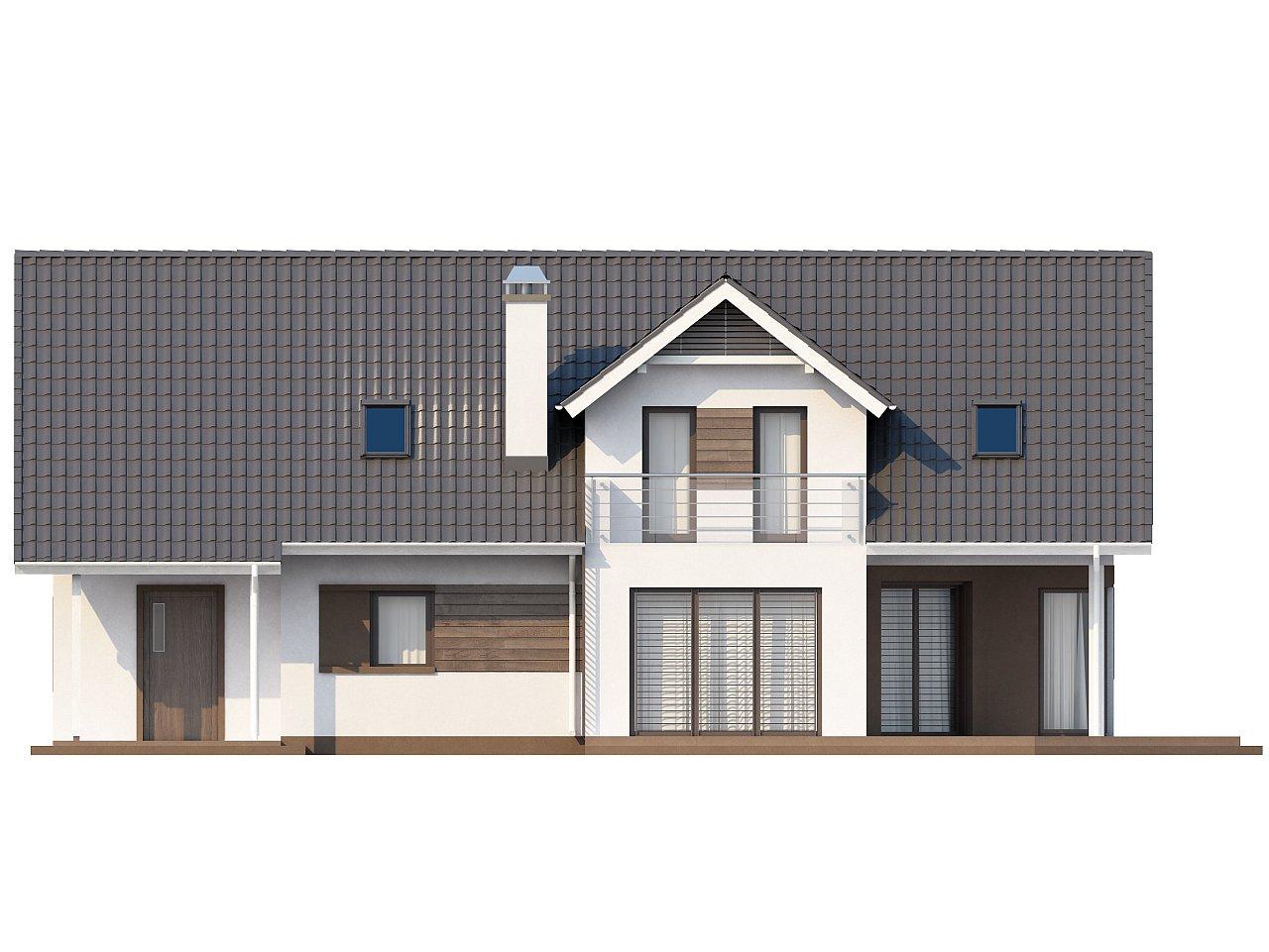 Комфортабельный дом со встроенным гаражом, угловой террасой и кабинетом на первом этаже. - фото 5