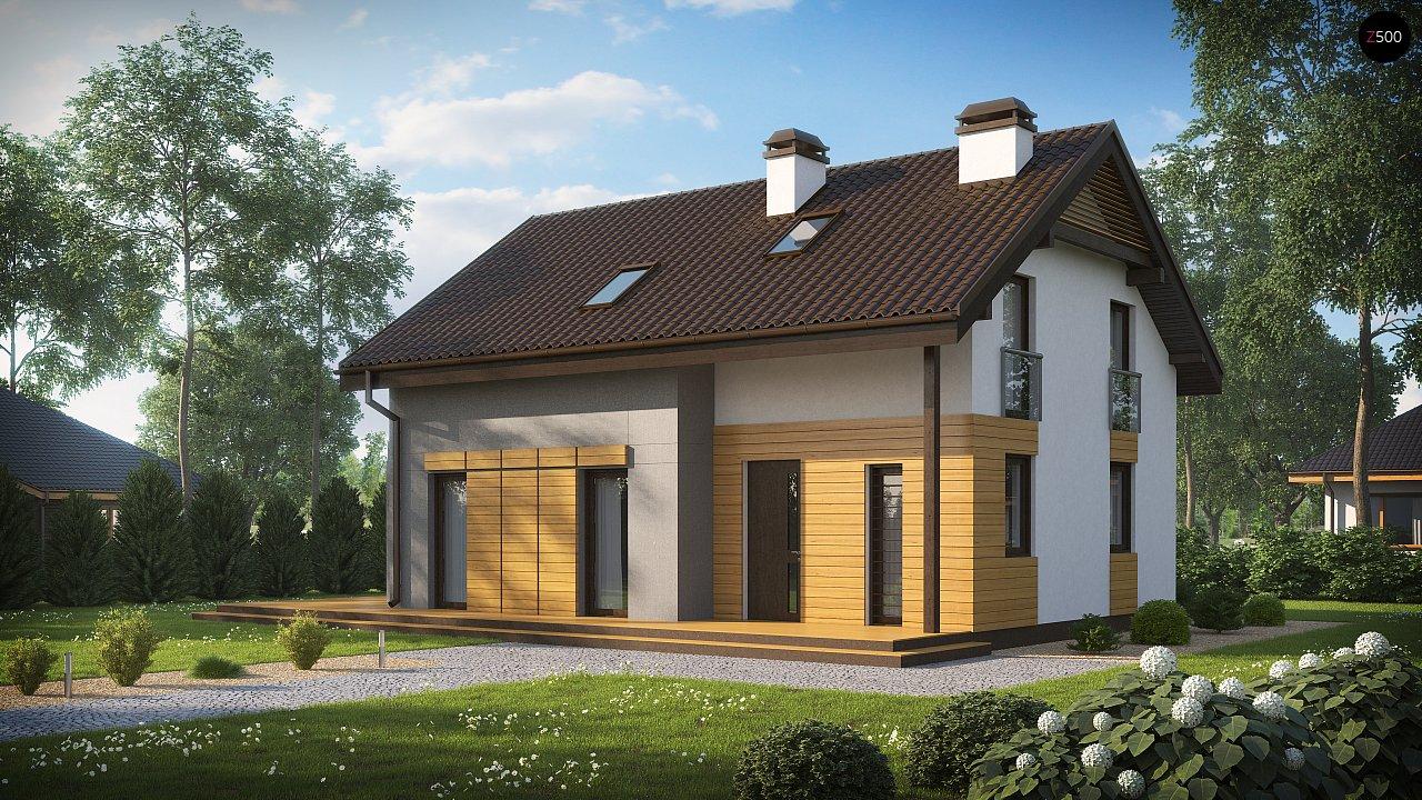 Вариант мансардного дома Z149 без гаража 1