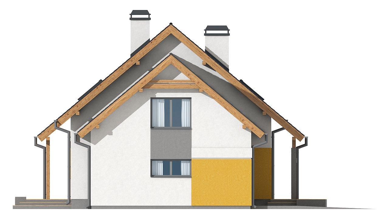Версия проекта Z92 c гаражом, пристроенным слева и дополнительным помещением над ним 16