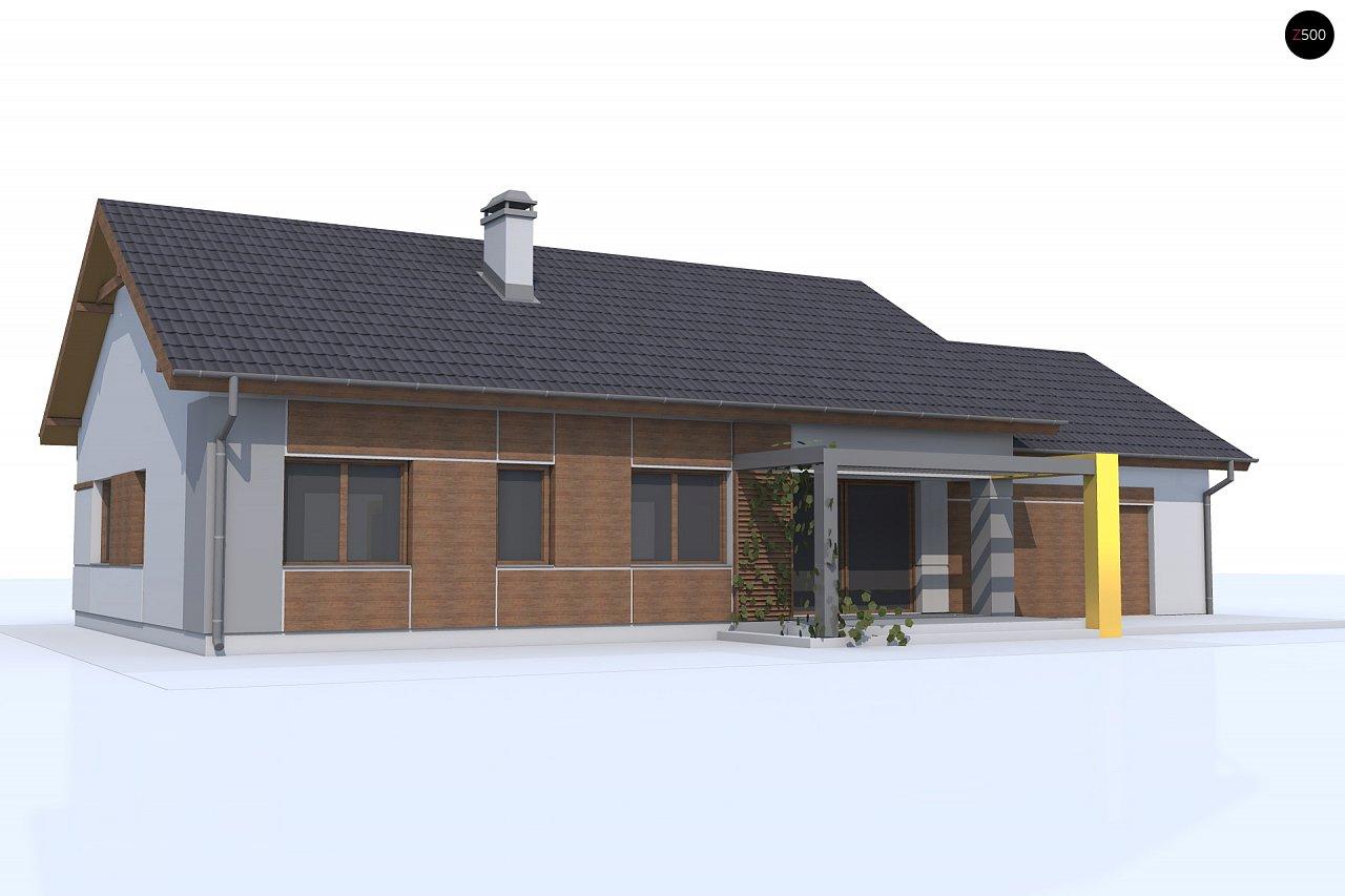 Версия проекта Z287 c большим гаражным помещением. 2