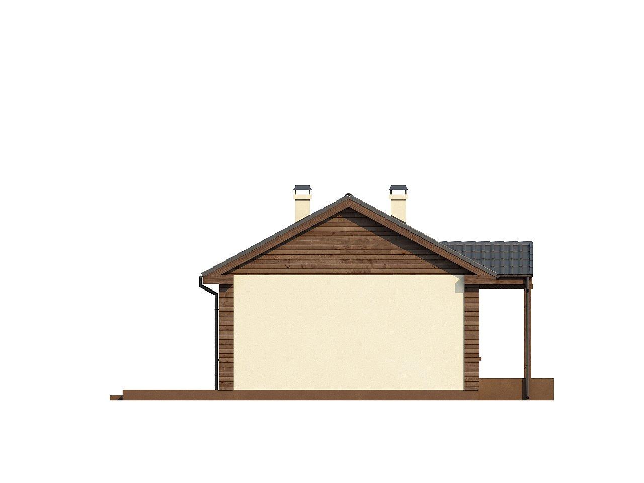 Маленький одноэтажный дом с двускатной кровлей, недорогой в строительстве и эксплуатации. - фото 17