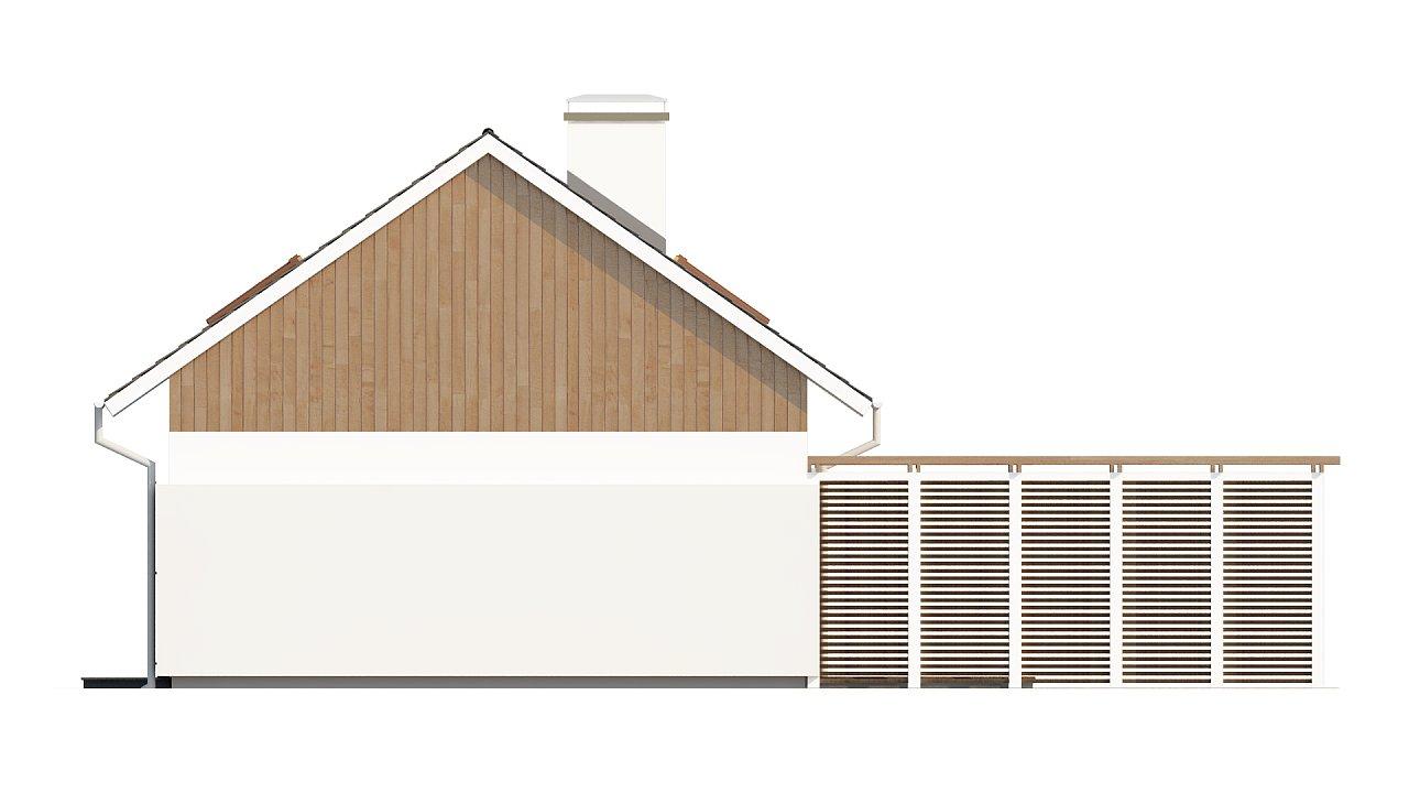Проект дома в традиционном стиле с двускатной крышей. 7
