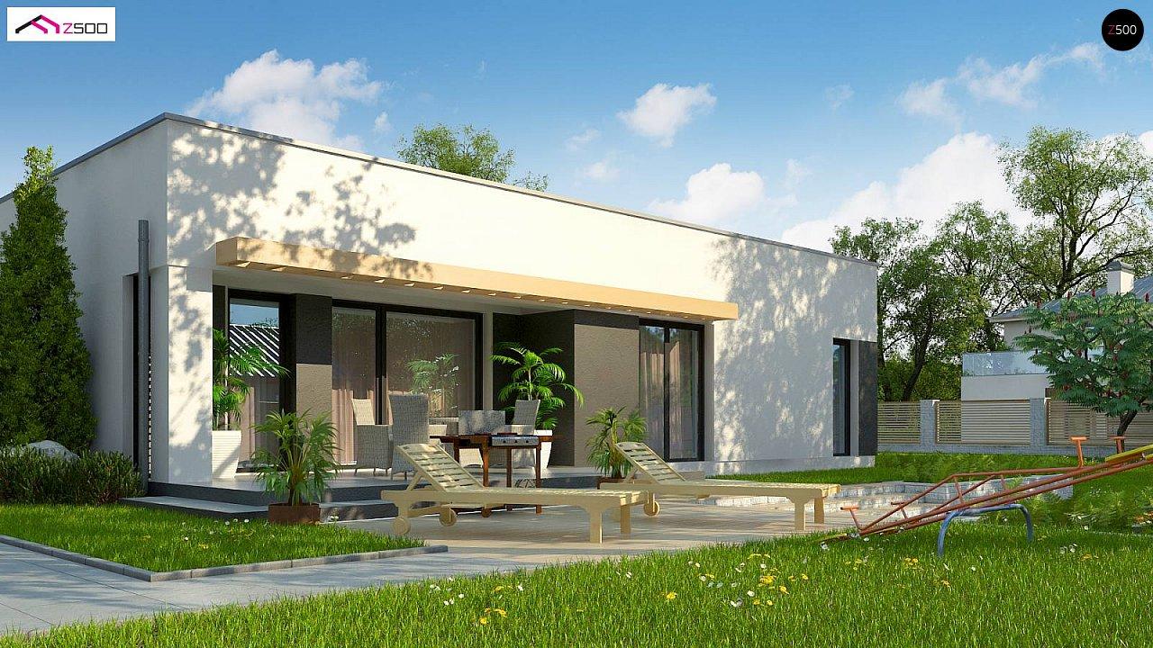 Современный комфортабельный одноэтажный дом с функциональным интерьером и уютной террасой. 4