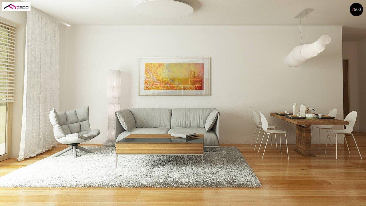Дом, выполненный в традиционном стиле с одноуровневой планировкой. 12