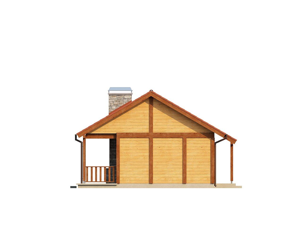 Маленький одноэтажный дом, оснащенный всем необходимым для круглогодичного проживания. 14