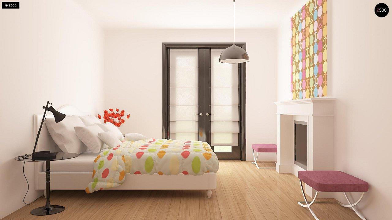 Практичный одноэтажный дом с гаражом для двух автомобилей и большим хозяйственным помещением. 15