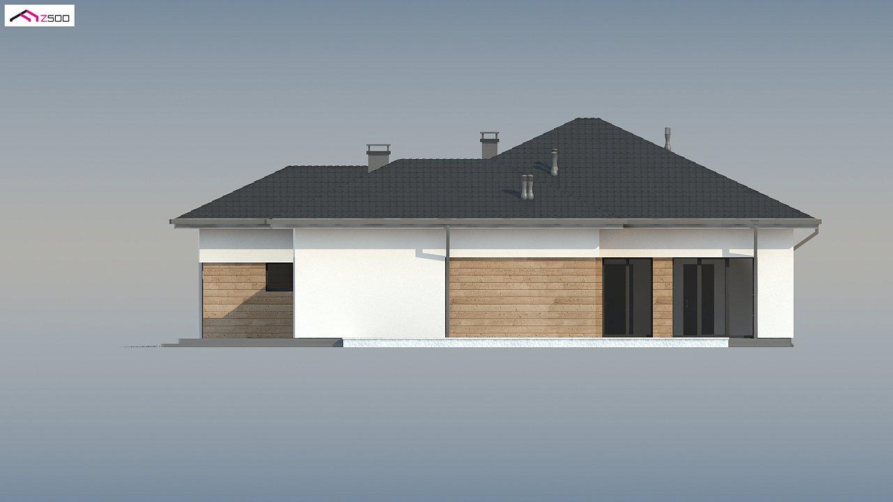 Проект комфортного одноэтажного дома в европейском стиле. 9