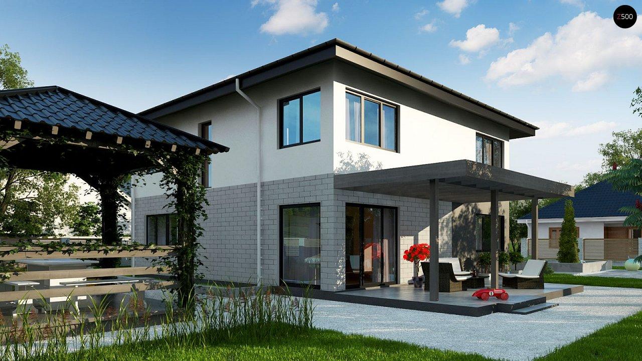 Современный двухэтажный дом с гаражом. 2