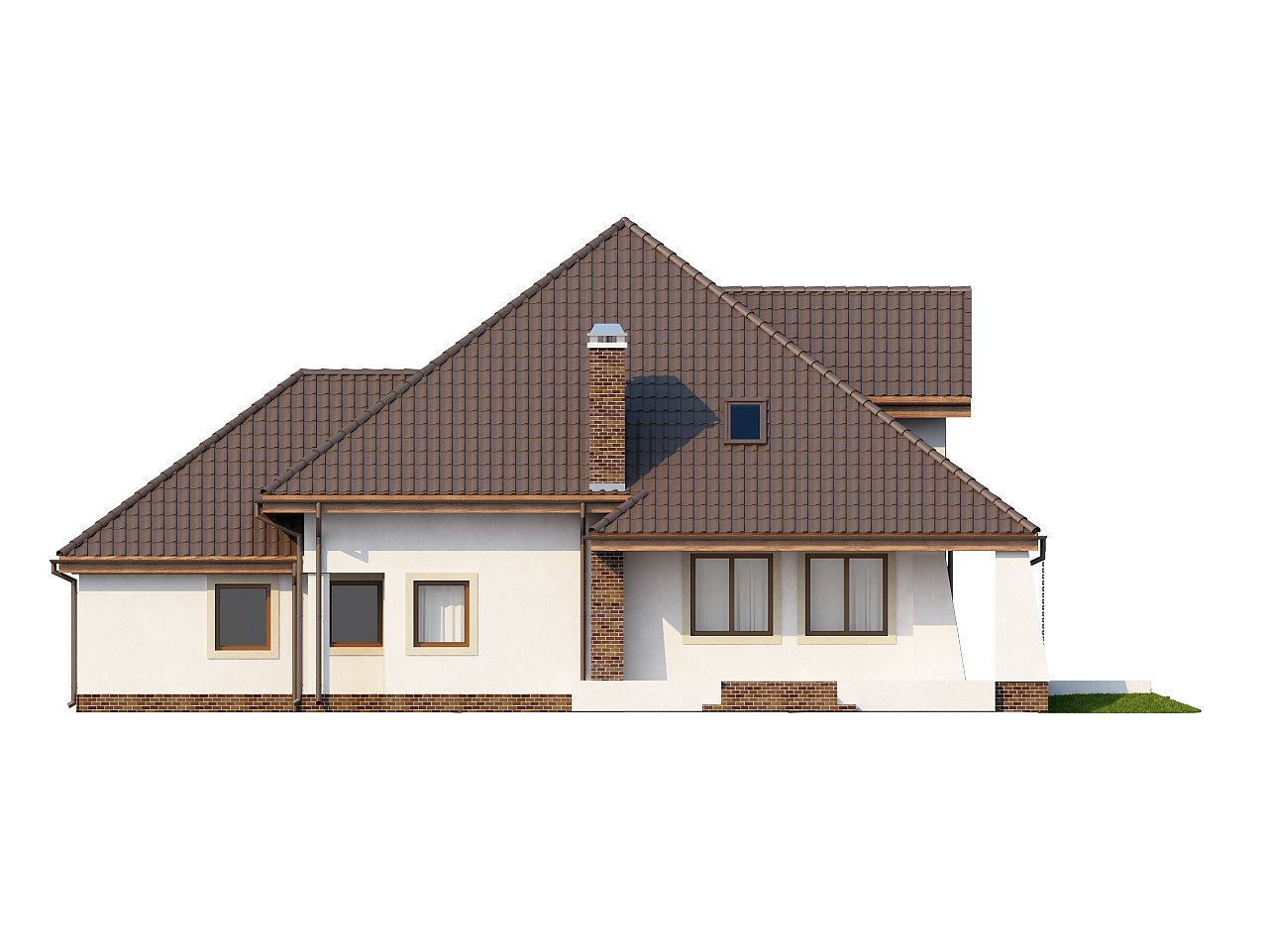 Удобный дом в классическом стиле с красивыми мансардными окнами и балконом. 4