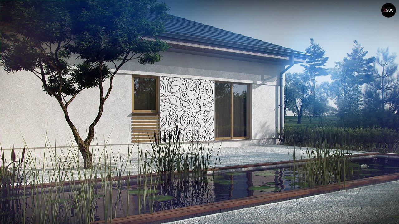 Проект просторного дома с многоскатной крышей. 4