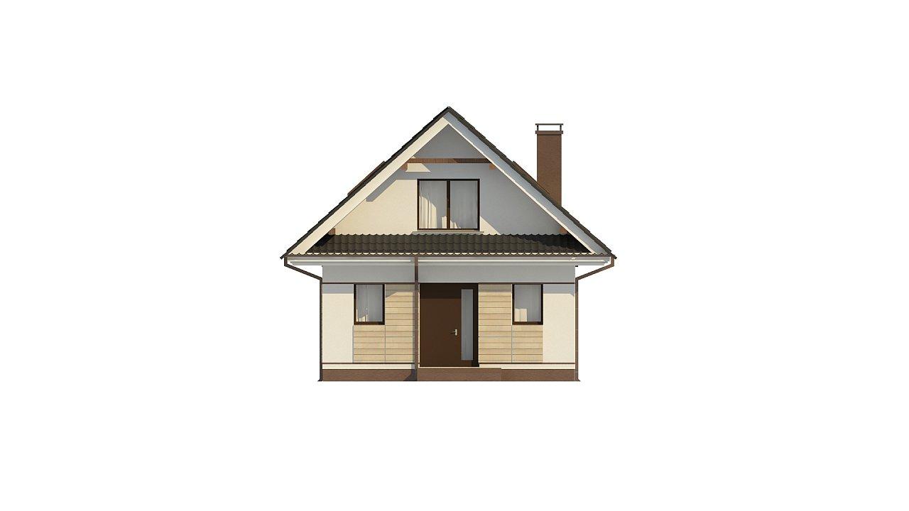 Небольшой мансардный дом с верандой, подойдет для строительства на узком участке. - фото 8