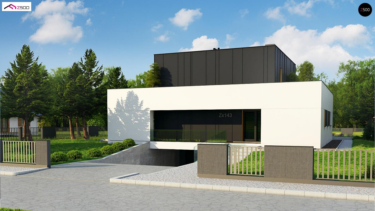 Дом в современном стиле с подвалом 4