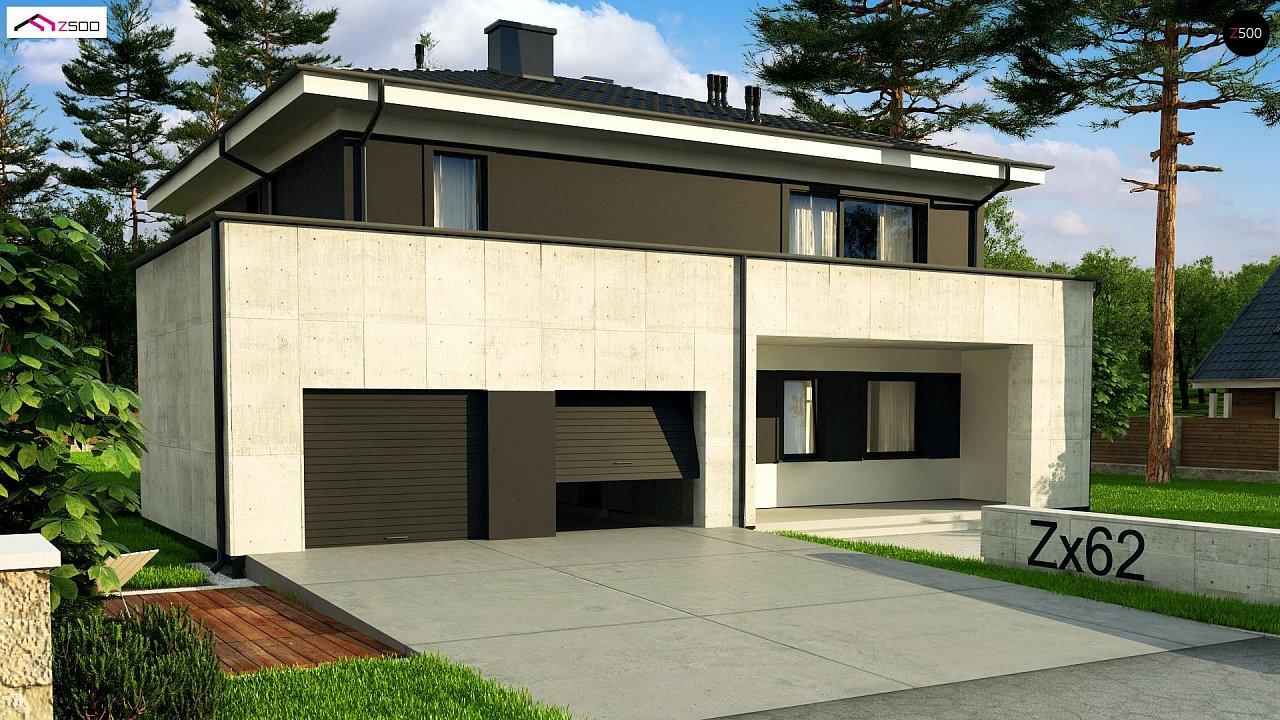 Проект просторного современного коттеджа с 5 спальнями. - фото 6