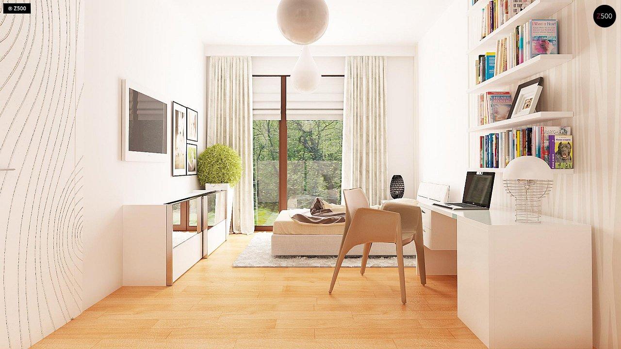 Одноэтажный просторный дом с эркером и крытой террасой. 12