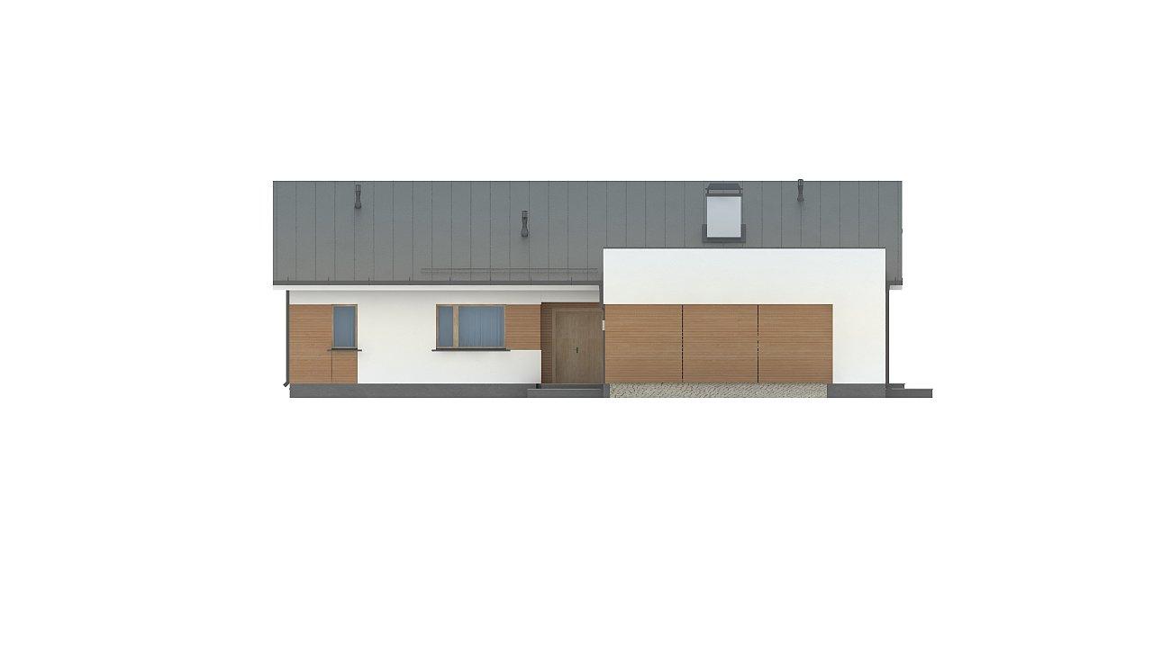 Комфортный функциональный одноэтажный дом простой формы и с гаражом для двух авто. 11