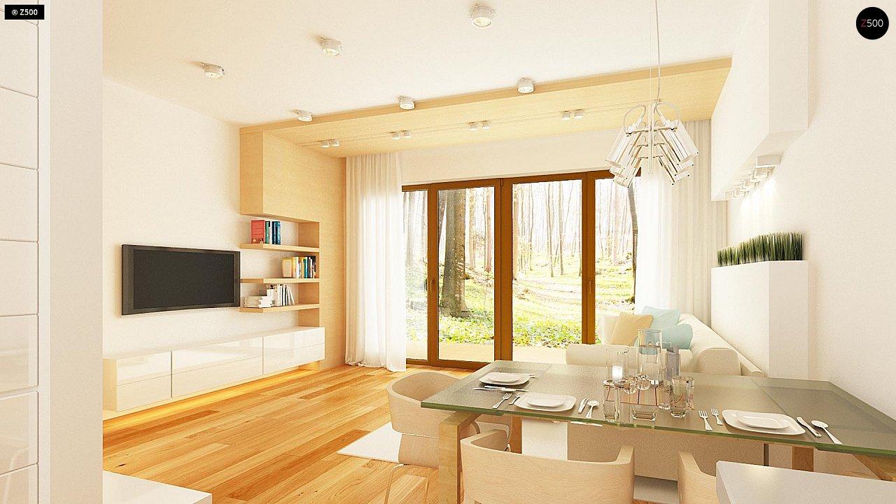 Простой и недорогой в строительстве одноэтажный дом небольшой площади. 7