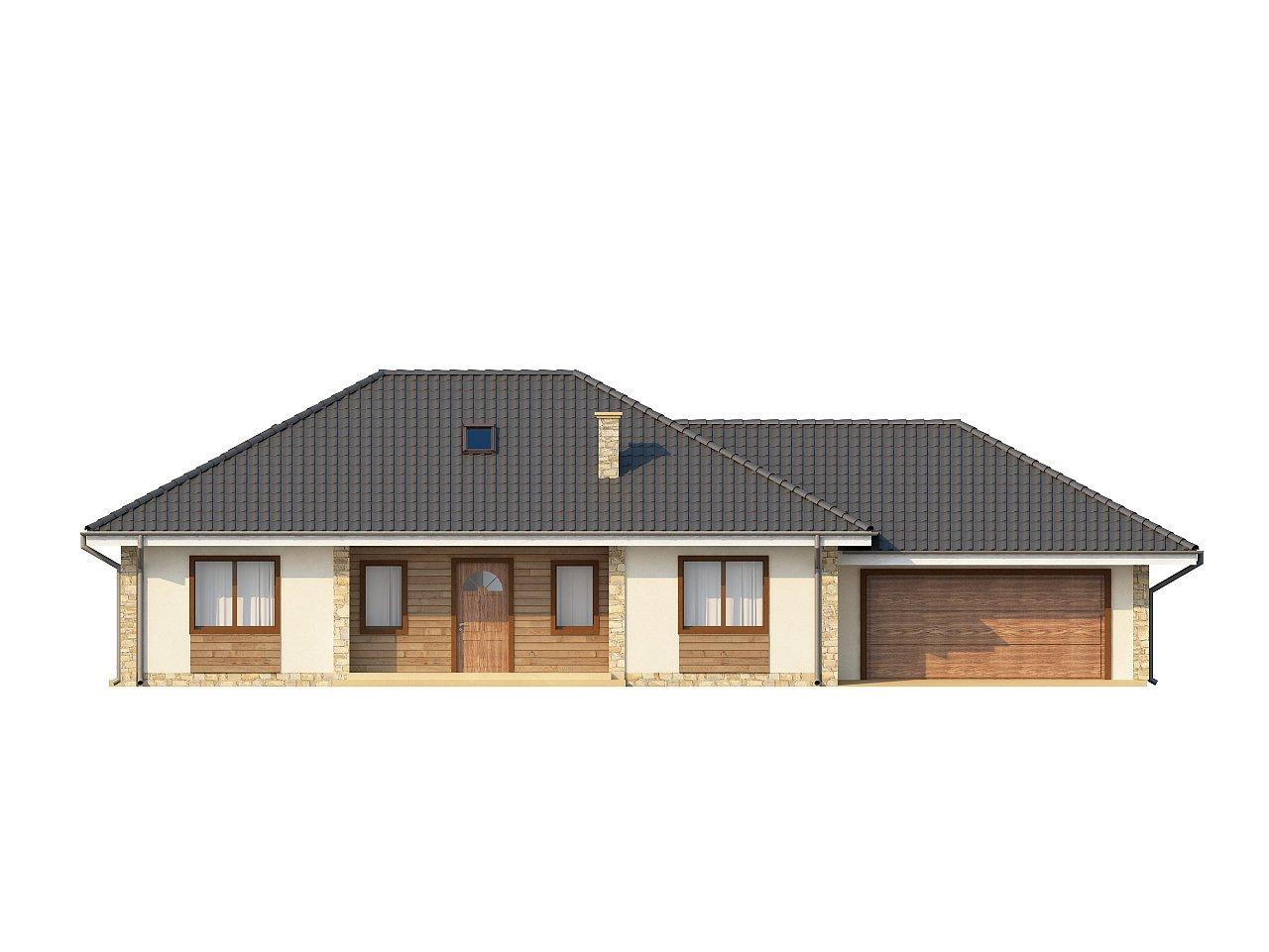 Просторный одноэтажный дом с тремя спальнями и большим гаражом. 13