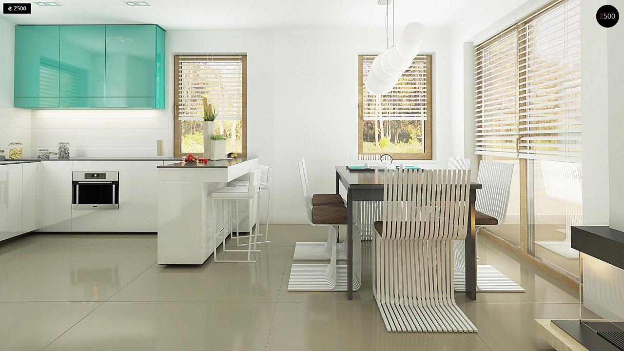 Небольшой стильный и практичный дом с мансардными окнами. - фото 7