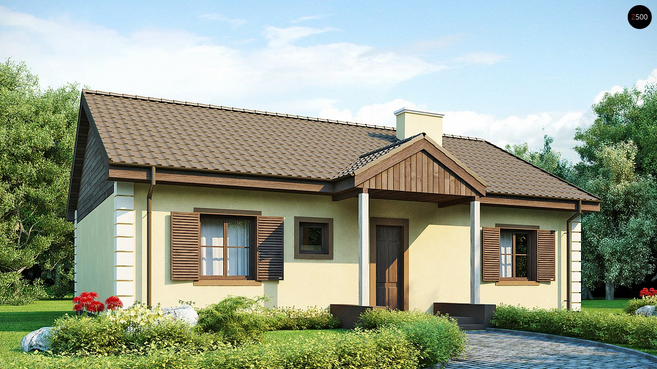 Выгодный и простой в строительстве дом полезной площадью 100 м2. 1
