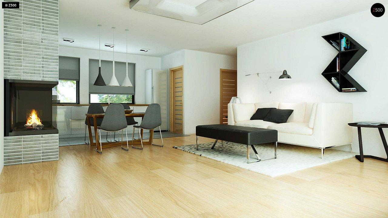 Современный комфортабельный одноэтажный дом с функциональным интерьером и уютной террасой. 11
