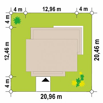 Современный одноэтажный дом с плоской крышей план помещений 1