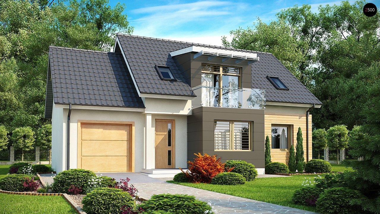 Проект дома с гаражом, с возможностью его использования в качестве двухсемейного. 1
