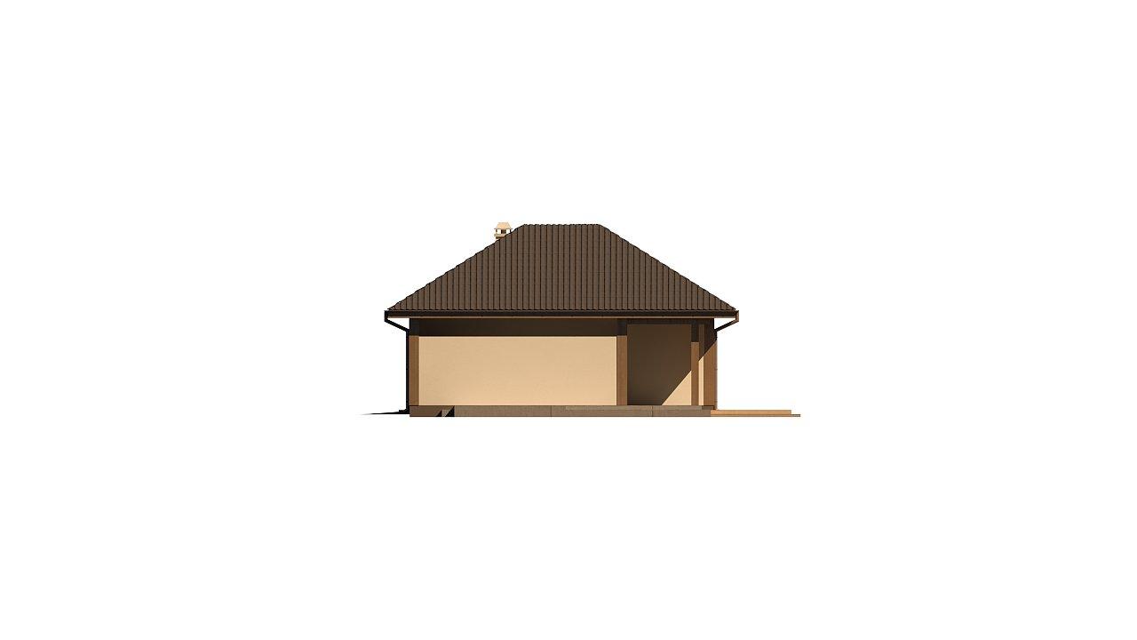 Версия проекта Z15 со вcтроенным гаражом с левой стороны. 5