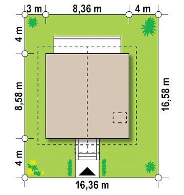Версия проекта дома Z1 без люкарен. план помещений 1