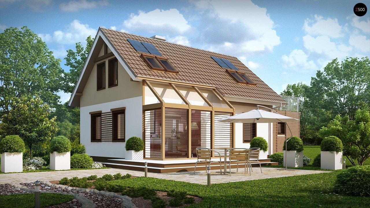 Уютный дом с террасой над гаражом, с возможностью обустройства зимнего сада. - фото 1