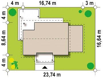 Версия проекта Z136 с гаражом. план помещений 1