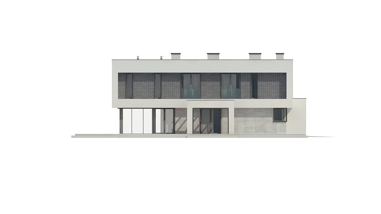 Современный двухэтажный дом с просторной террасой и гаражом на две машины. - фото 12
