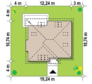 Удобный функциональный дом с двумя дополнительными комнатами на первом этаже. план помещений 1