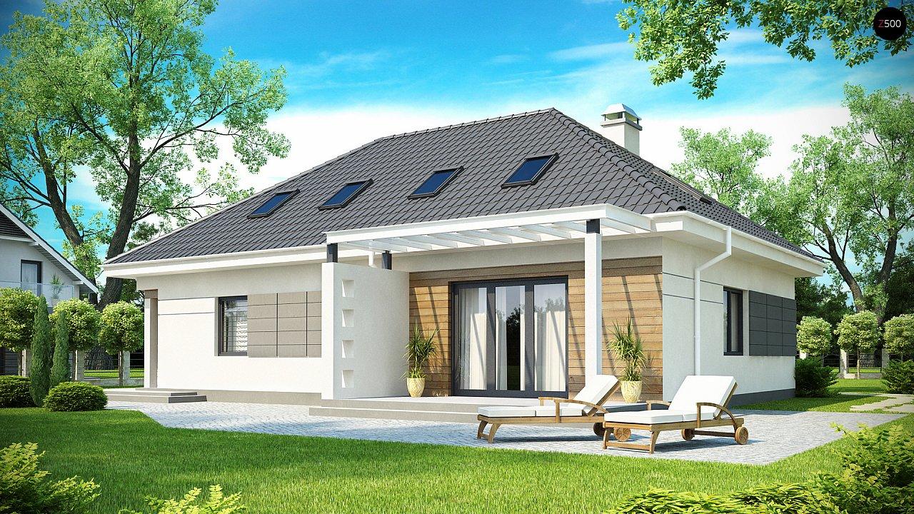Просторный дом традиционной формы с гаражом и дополнительной небольшой ночной зоной на первом этаже. - фото 2
