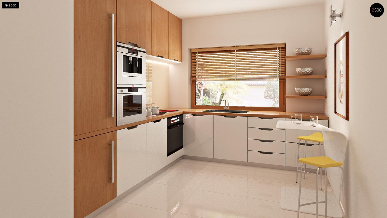 Проект стильного, функционального и недорогого двухсемейного дома. 7