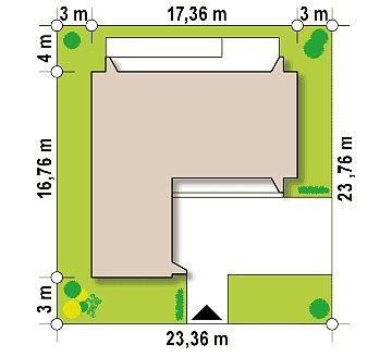 Современный плоскокровельный дом с компактной и удобной планировкой план помещений 1