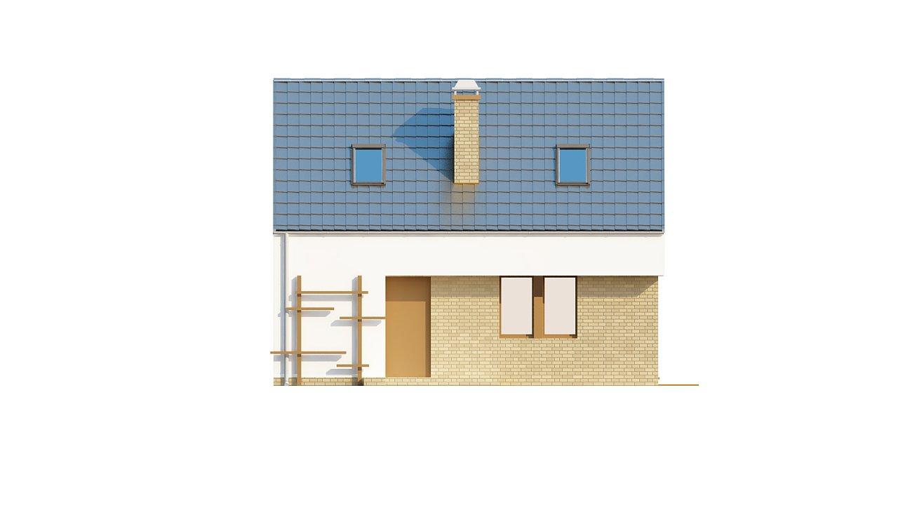 Компактный стильный дом простой формы с большой площадью остекления в дневной зоне. - фото 3