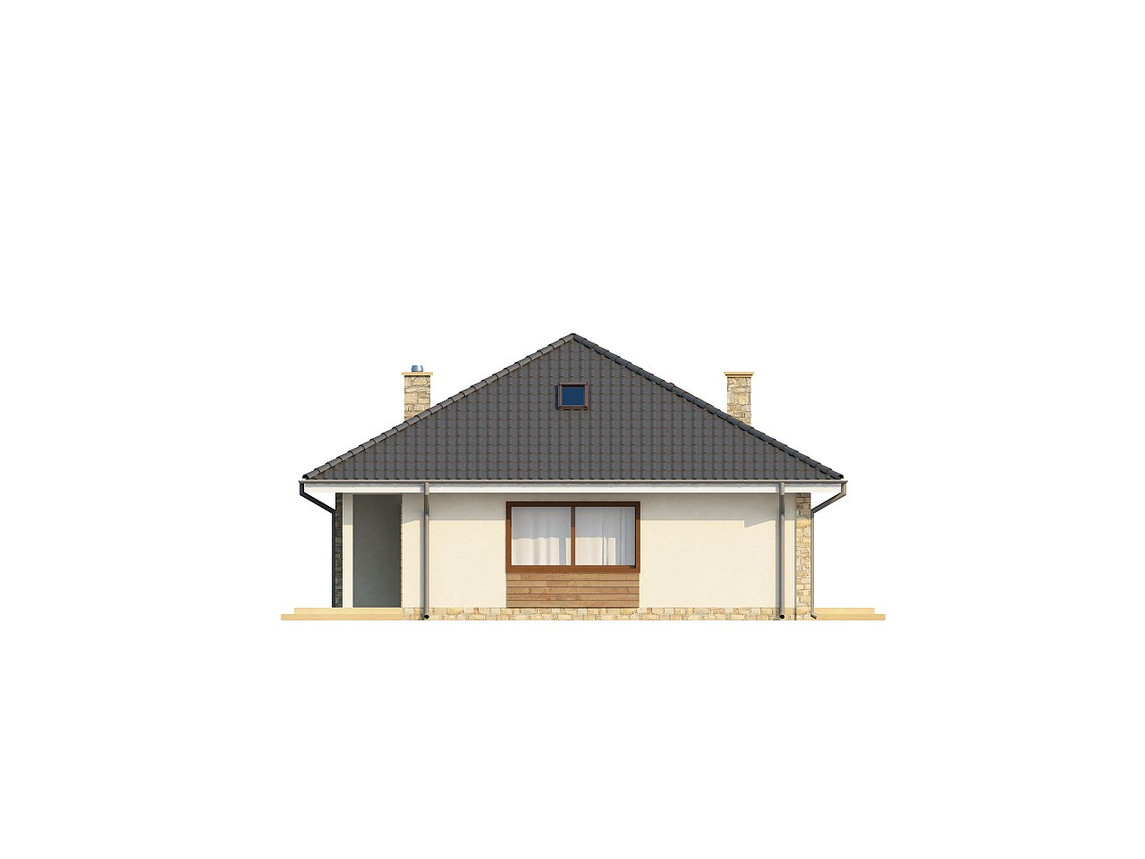 Просторный одноэтажный дом с тремя спальнями и большим гаражом. 15