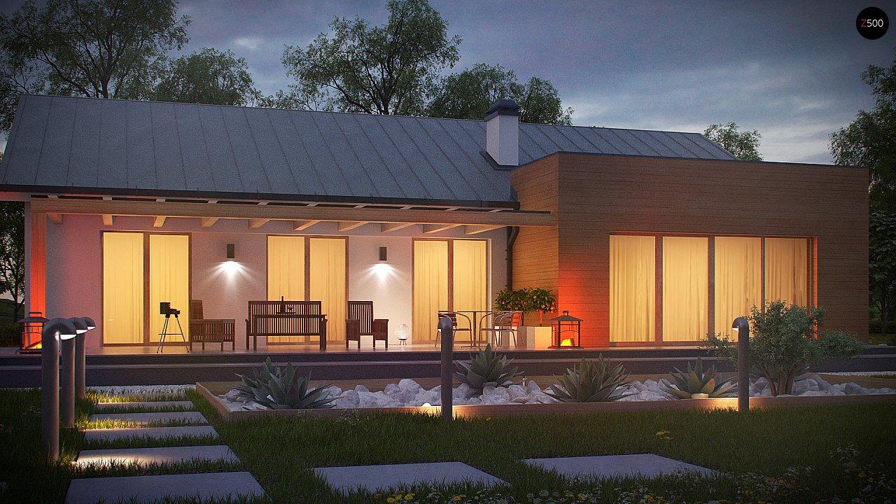 Комфортный функциональный одноэтажный дом простой формы и с гаражом для двух авто. 8