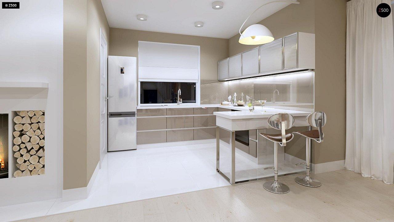 Компактный дом с мансардой, эркером в дневной зоне и c кабинетом на первом этаже. 9