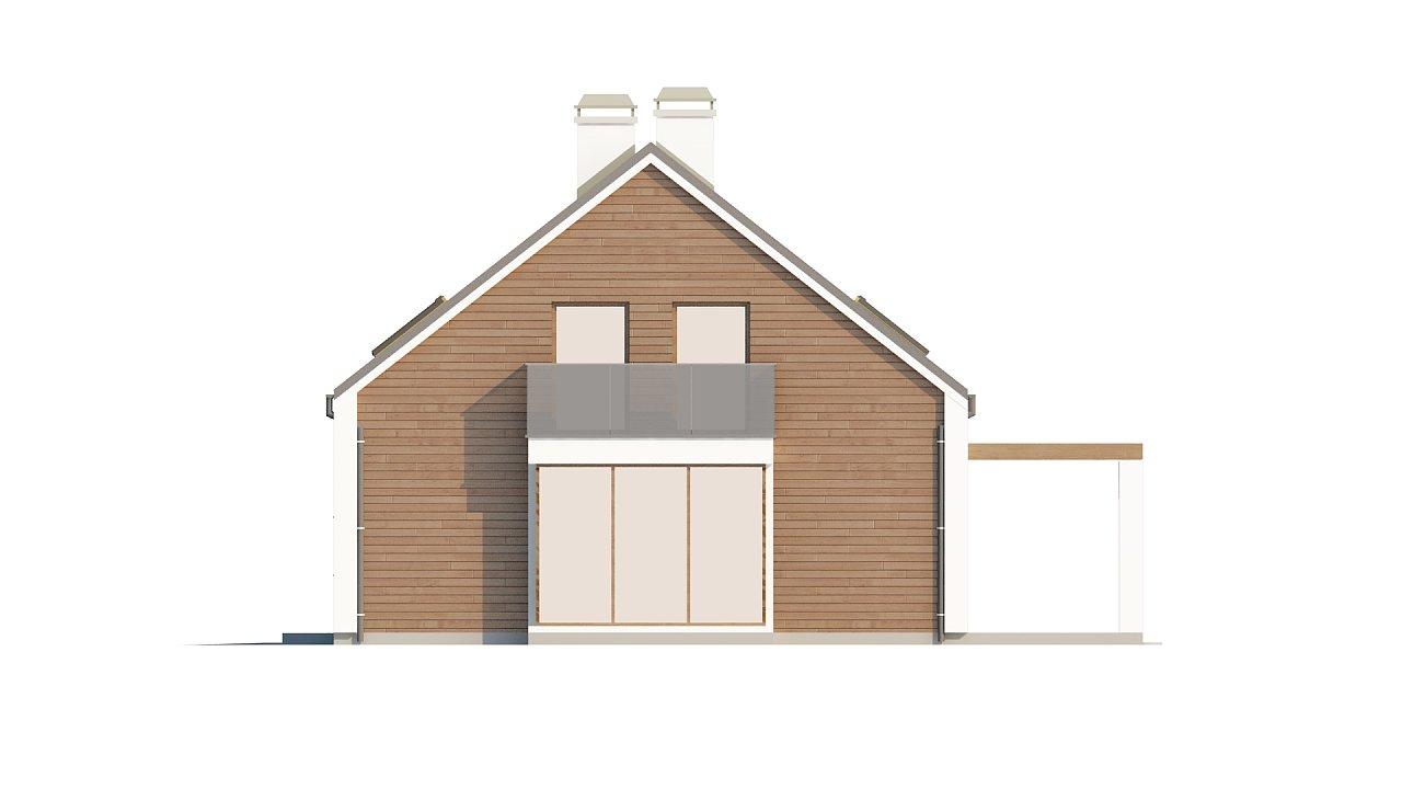 Комфортный дом с гаражом простого аккуратного дизайна. 5