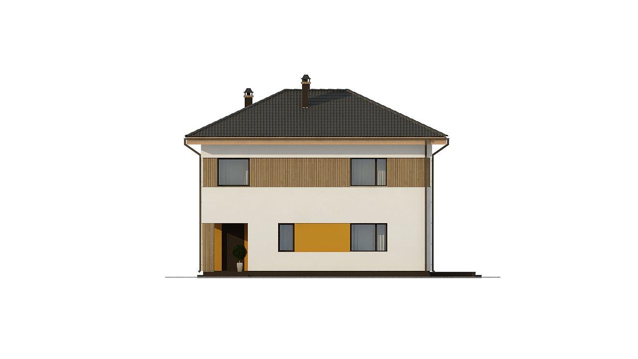 Компактный проект двухэтажного дома 5