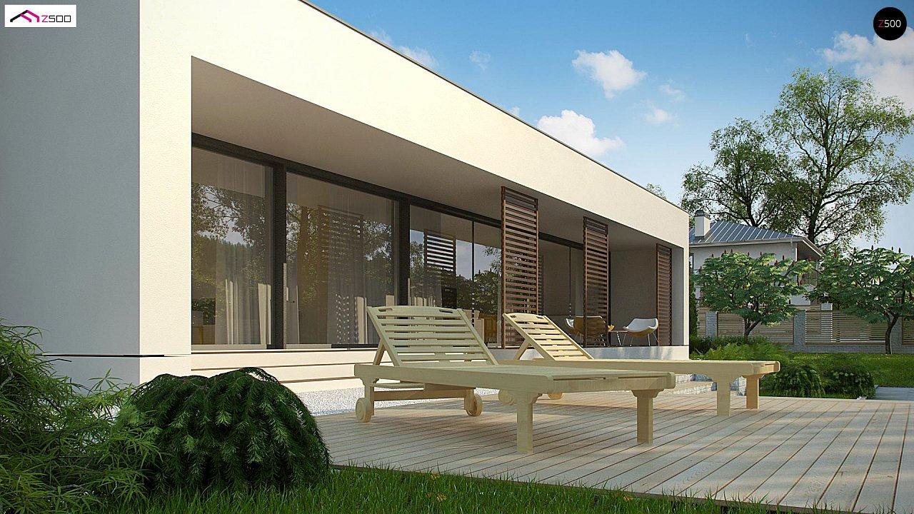 Современный дом с 4 спальнями, гаражом на 2 машины и большими окнами 4