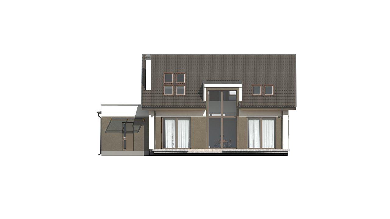 Комфортный дом с оригинальным остеклением в гостиной и вторым светом. - фото 9